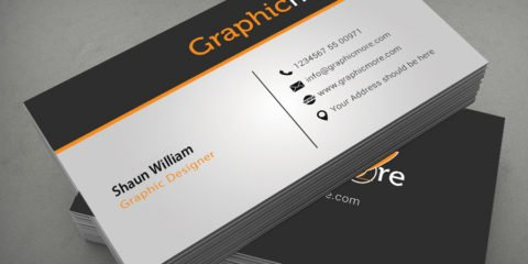 Clean Corporate Business Card Design Free PSD File
