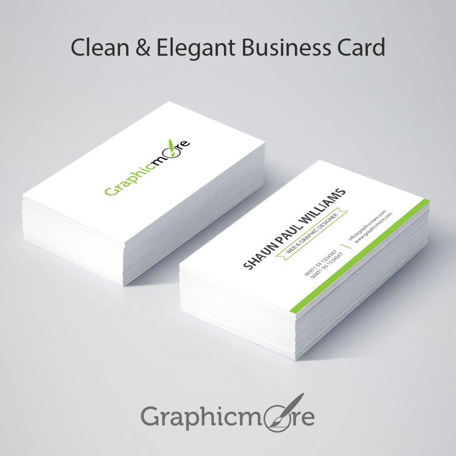 Clean & Elegant Business Card Design Free PSD File