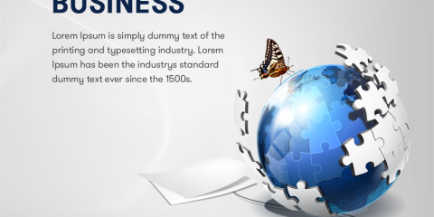 Global Business Banner Design Free PSD Download