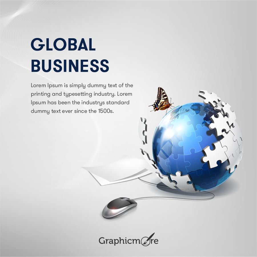 Global Business Banner Design