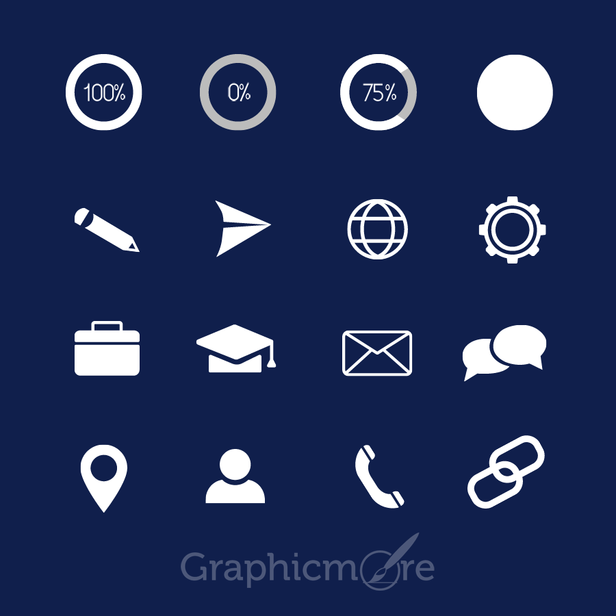 cv icons Icons Pack Design for CV Free Download by GraphicMore