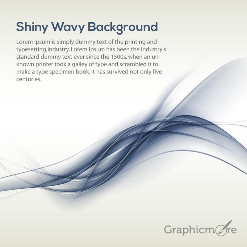 Shiny Wavy Background Design Free Vector File