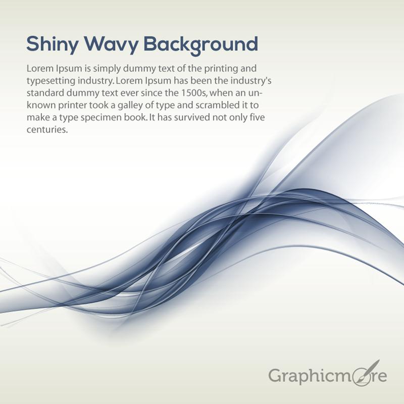 Shiny Wavy Background