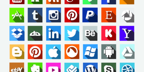 35 Social Media Icons Set Design Free Vector File