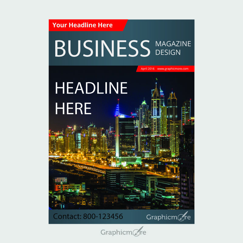 Business Magazine Cover Free Vector File