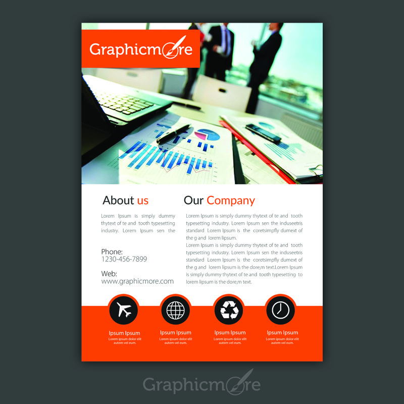 corporate accounting flyer design free psd file by graphicmore