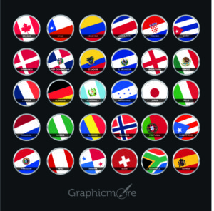Countries Flag Icons Pack Free Vector File