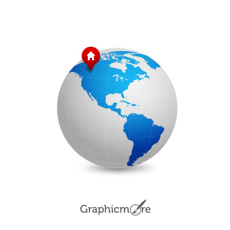 Earth Map Vector Icon Design Free Vector File