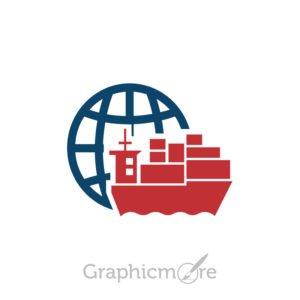 Global Distribution Icon Design Free Vector File