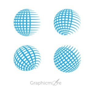 Globe Grid Shape Icons Pack Free Vector File