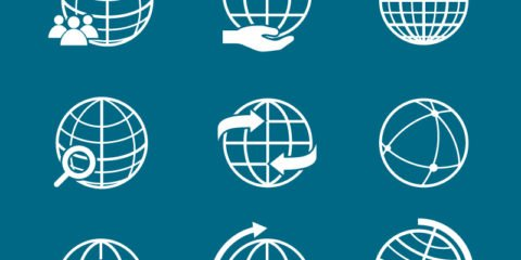 Globe Icons Collection Design Free Vector File