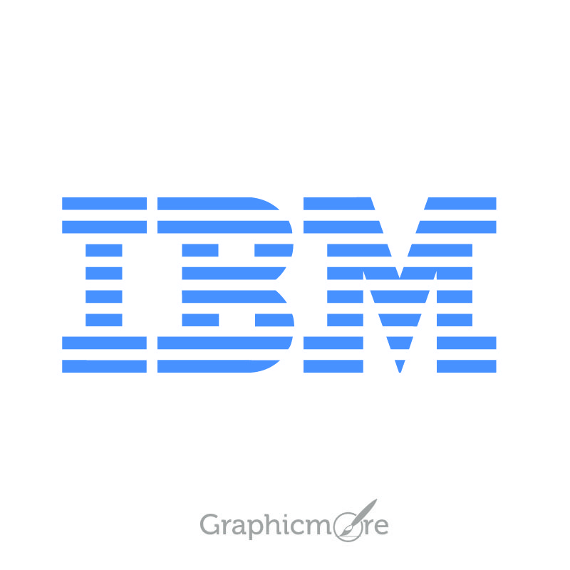 IBM Logo Design Free Vector File