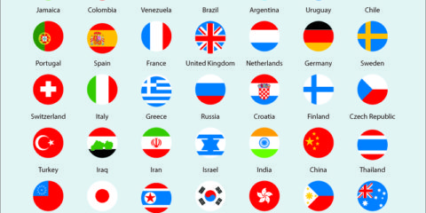 International Flags Icons Pack Free Vector File