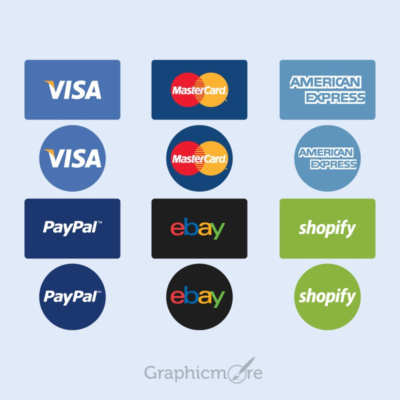 Payment Option Icon Set Free Vector File