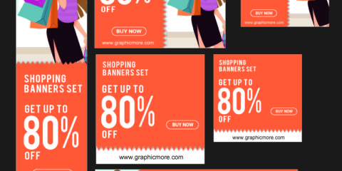 Shopping Banners Design Free Vector File Download