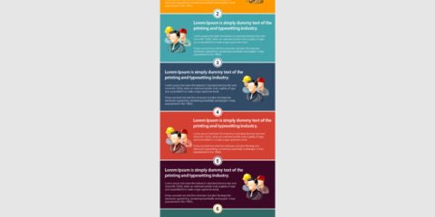 Six Step Process Infographic Template Free PSD File