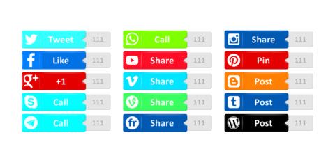Social Media Buttons Design Free Vector File