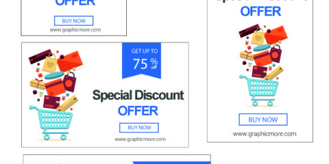 Special Discount Banners Design Free Vector File