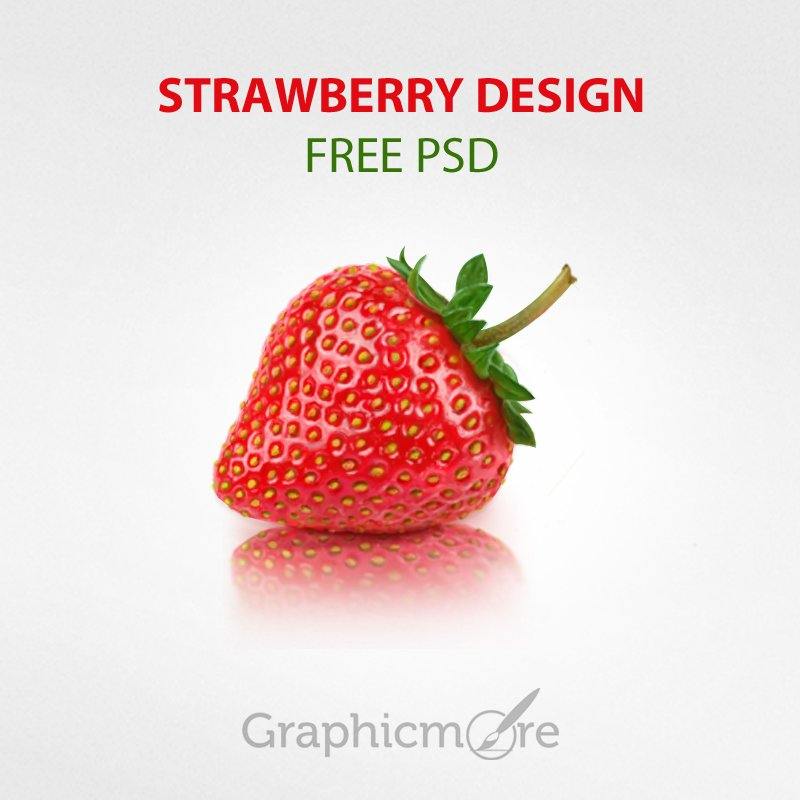 Strawberry Design Free PSD