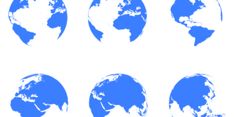 Free Vector Globe Icons Design