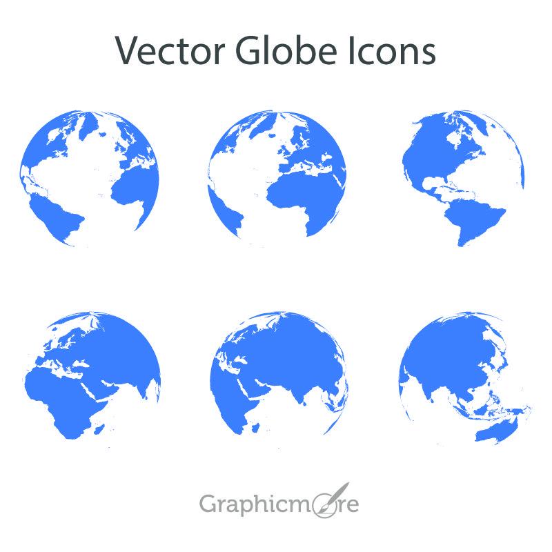 Free Vector Globe Icons Design