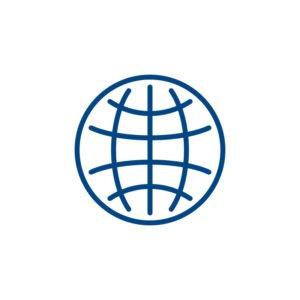 World Globe Icon Design Free PSD File