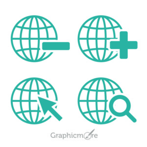World Shape Icons Design Free Vector File