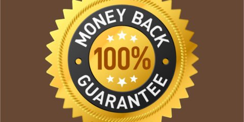 100% Money Back Guarantee Badge Design Free Vector