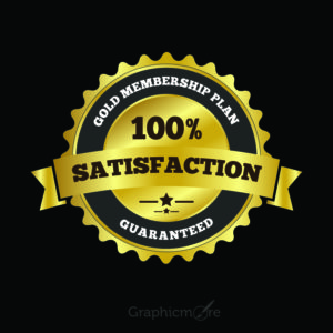 100% Satisfaction Label Badge Free Vector File