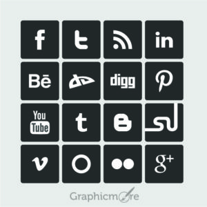 16 Simple Social Media Icons Design Free Vector File