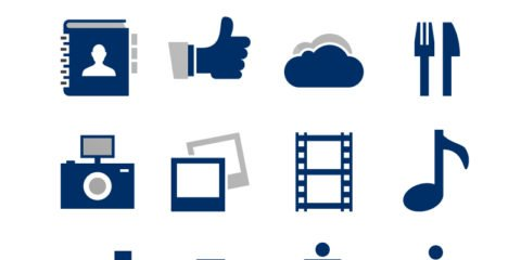 16 iOS Tab Bar Vector Icons Set Design
