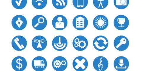 36 Flat Icons Set Design Free Vector File by GraphicMore