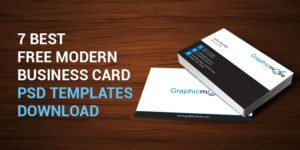 7 Best Free Modern Business Card PSD