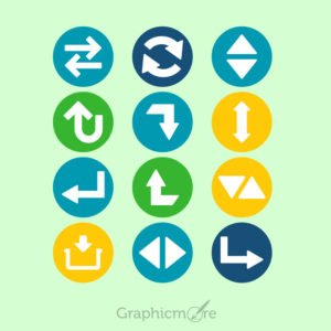 Arrow Icons Set Design Free Vector File
