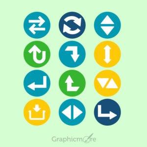 Arrow Icons Set Design Free Vector File
