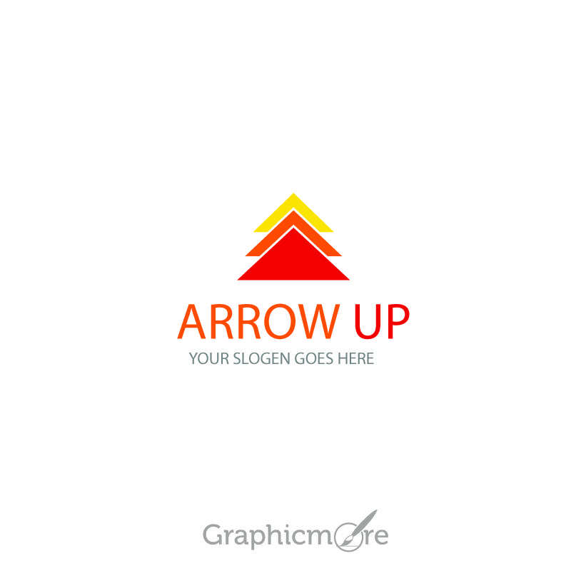Arrow Logo Design Template Free Vector File by GraphicMore