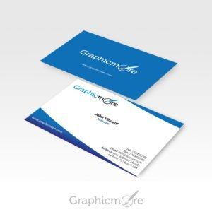 Blue Corporate Business Card Design Free PSD File