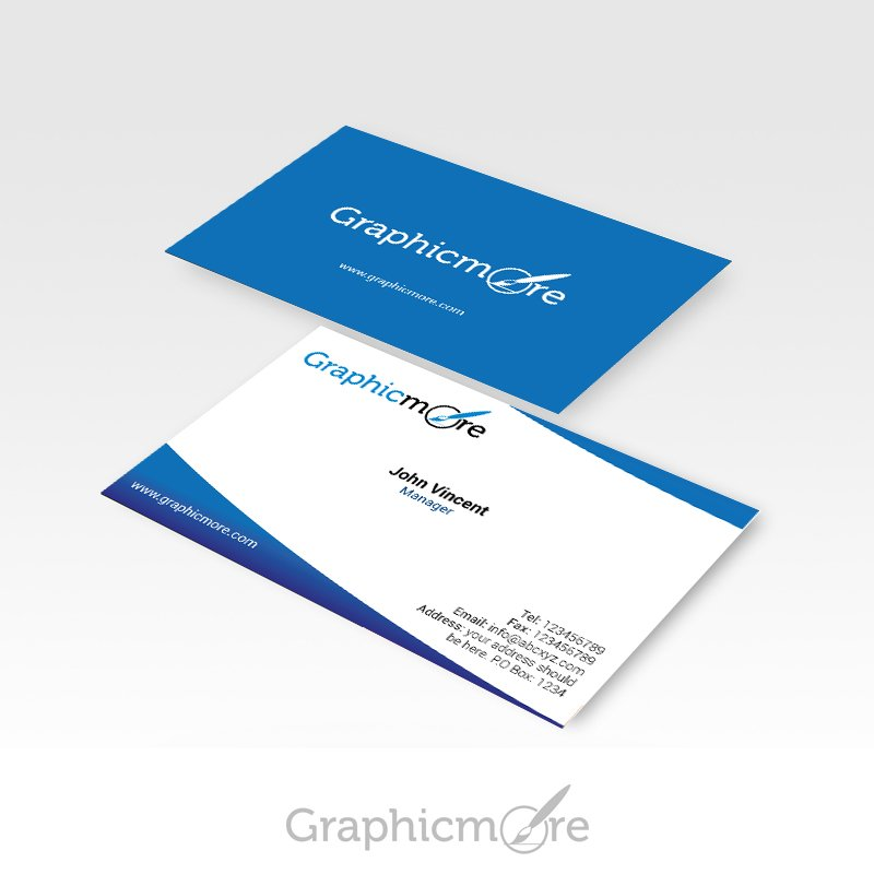 Blue Corporate Business Card Design Free PSD File
