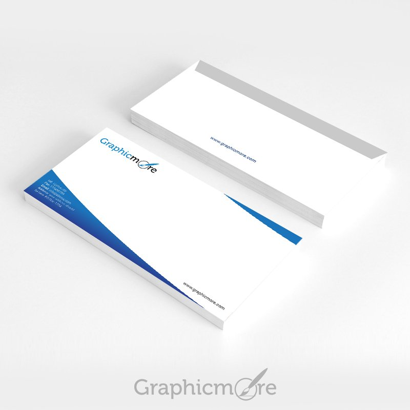 Blue Corporate Envelope Design Free PSD