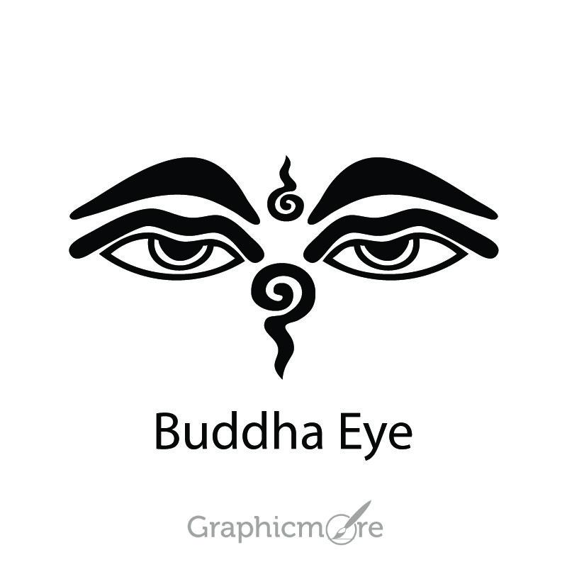 Buddha Eye Symbol Design Free Vector File