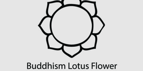 Buddhism Lotus Flower Symbol Design Free Vector File