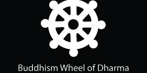 Buddhism Wheel of Dharma Symbol Design Free Vector File