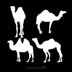 Camel Silhouette Design Free Vector File by GraphicMore