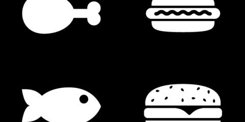 Camp Food Vector Icons Set Design