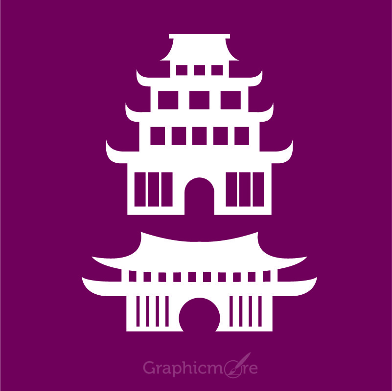 Chinese Temple Design Free Vector File