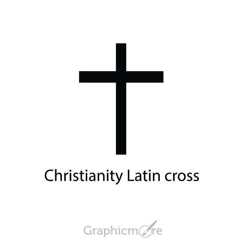 Christianity Latin Cross Symbol Design Free Vector File