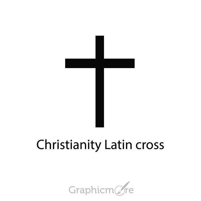 Christianity Latin Cross Symbol Design Free Vector File