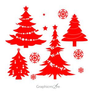 Christmas Tree Silhouette Design Free Vector File