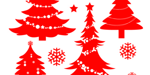 Christmas Tree Silhouette Design Free Vector File