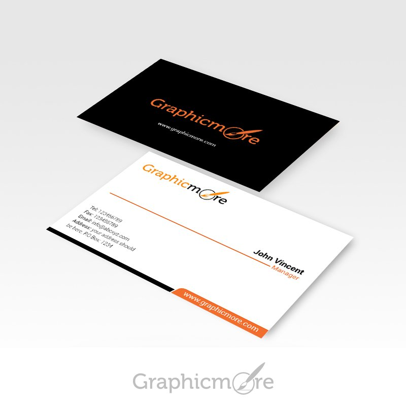 Clean Business Card Design Free PSD File by GraphicMore